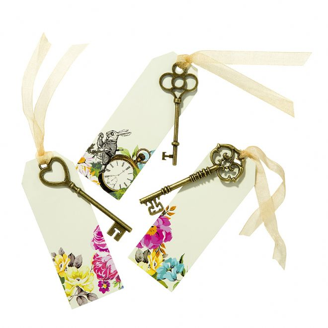 Alice in Wonderland, Truly Alice Curious Keys & Tags - pack of 6